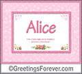 Meaning of Alice to print or send