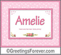 Meaning of Amelie to print or send