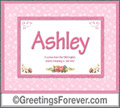 Meaning of Ashley to print or send