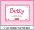 Meaning of Betty to print or send