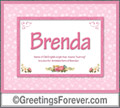 Meaning of Brenda to print or send