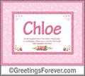 Meaning of Chloe to print or send