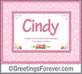 Meaning of Cindy to print or send