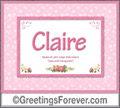 Meaning of Claire to print or send