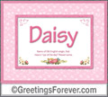Meaning of Daisy to print or send