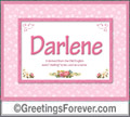 Meaning of Darlene to print or send