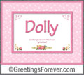 Meaning of Dolly to print or send
