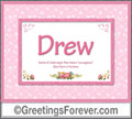 Meaning of Drew to print or send
