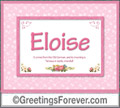 Meaning of Eloise to print or send
