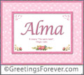 Meaning of Alma to print or send
