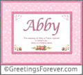 Meaning of Abby to print or send