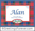 Meaning of Alan to print or send