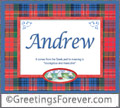 Meaning of Andrew to print or send