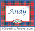 Meaning of Andy to print or send