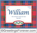 Meaning of William to print or send