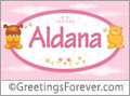 Names for babies, Aldana