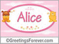 Names for babies, Alice
