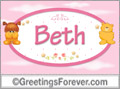 Names for babies, Beth