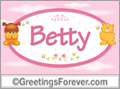 Names for babies, Betty