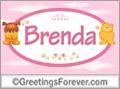 Names for babies, Brenda