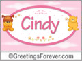 Names for babies, Cindy