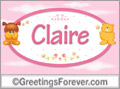 Names for babies, Claire