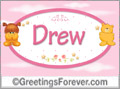 Names for babies, Drew