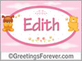 Names for babies, Edith