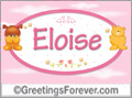 Names for babies, Eloise