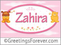 Names for babies, Zahira