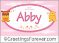 Names for babies, Abby