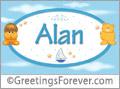 Names for babies, Alan