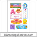 April in stickers