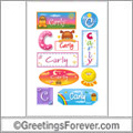 Carly in stickers