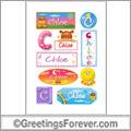 Chloe in stickers
