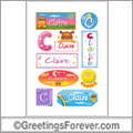 Claire in stickers