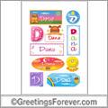 Dana in stickers