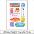 Eloise in stickers
