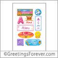 Alma in stickers