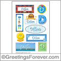 Dillon in stickers