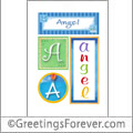 Name Angel and initials