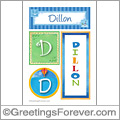 Name Dillon and initials