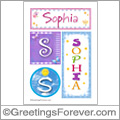 Name Sophia and initials