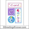 Name Carol and initials