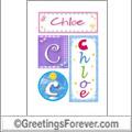 Name Chloe and initials