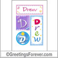 Name Drew and initials