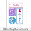 Name Edith and initials