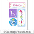 Name Eloise and initials