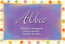 Nome Alba