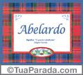 Significado e origem de Abelardo